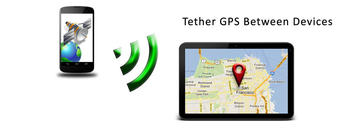 NMEA GPS Tether Phone Tablet